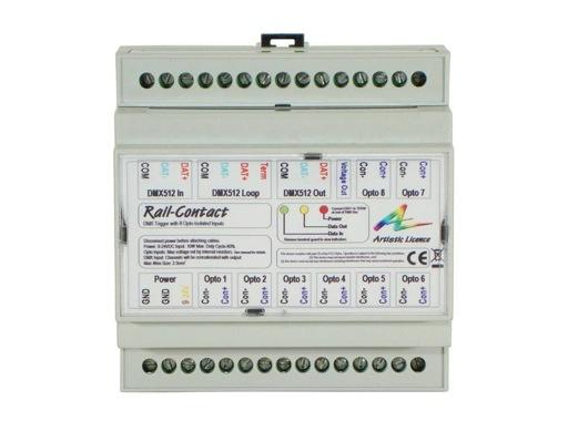 ARTISTIC LICENCE • Rail Contact 8 Contact Sec vers DMX512