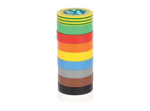 Adhésif AT7 PVC Pack de 10 rlx 10 couleurs 15mm x 10m 173884 - ADVANCE