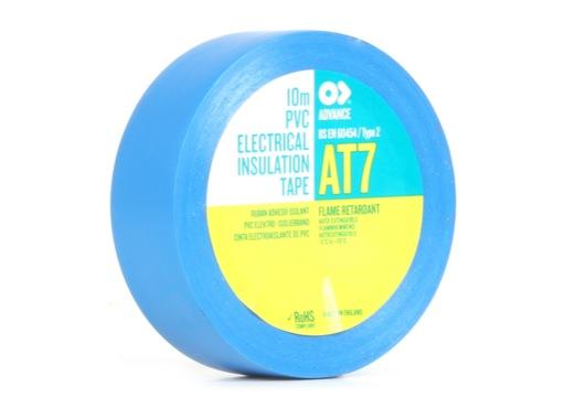 Adhésif AT7 PVC bleu 15mm x 10m 173822 - ADVANCE