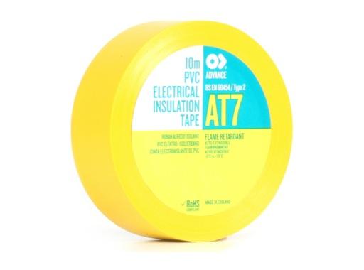 Adhésif AT7 PVC jaune 15mm x 10m 173839 - ADVANCE