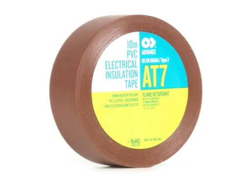 Adhésif AT7 PVC marron 15mm x 10m 173853 - ADVANCE
