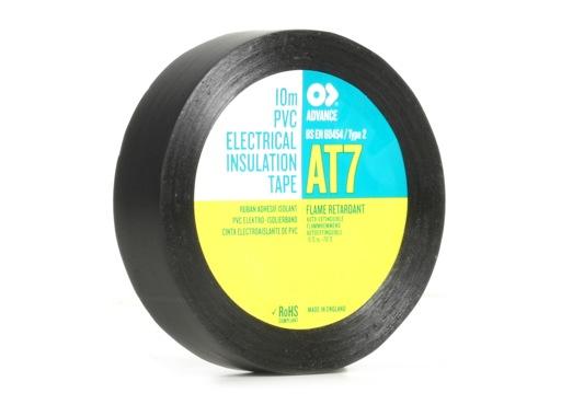 Adhésif AT7 PVC noir 15mm x 10m 173693 - ADVANCE