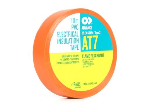 Adhésif AT7 PVC orange 15mm x 10m 173846 - ADVANCE