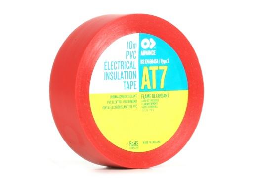Adhésif AT7 PVC rouge 15mm x 10m 173815 - ADVANCE