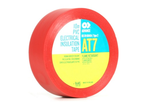 ADVANCE • Adhésif AT7 PVC rouge 15mm x 10m 173815