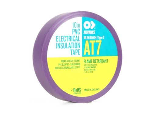 Adhésif AT7 PVC violet 15mm x 10m 173877 - ADVANCE