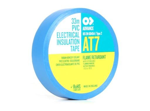 Adhésif AT7 PVC bleu 19mm x 33m 107216 - ADVANCE