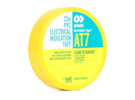 ADVANCE • Adhésif AT7 PVC jaune 19mm x 33m 107919