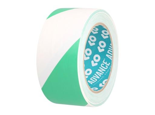 ADVANCE • Adhésif AT8 PVC signalisation vert/blanc 50mm x 33m 162154