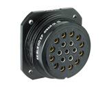 SOCAPEX • Embase Femelle noire sans écrou SLGDEF419AR 12+7cts 25A - 400V