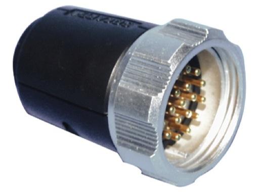 SOCAPEX • Fiche mâle à écrou FMD419AR 25A - 400V