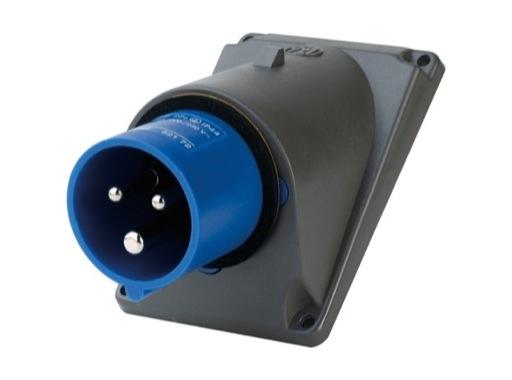 LEGRAND • HYPRA Embase mâle inclinée bleu 2P+T 16A 230V