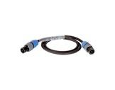 CABLE • HP PRO noir 1 m - 2 x 4mm2 - NL2FX et NL2FX-cablage