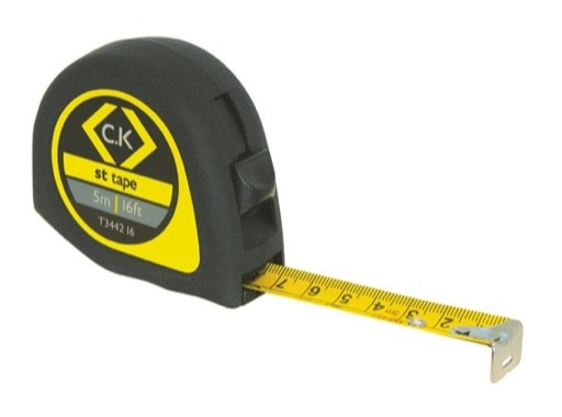 CK • Mètre ruban de 3 mètres avec blocage