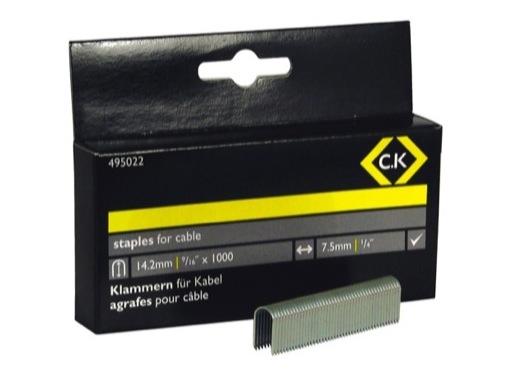 CK • Boîte de 1000 agrafes 14,1 mm pour T6225