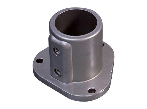 Raccord tubulaire ø 50 plaque de base avec insert