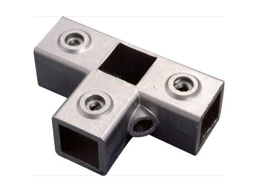 Raccord carré 40/40 3 voies en T