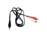 Cordon • 2 RCA mâle / Jack 3,5 mâle stéréo Lg 2,50m-cables-moules