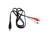 Cordon • 2 RCA mâle / Jack 3,5 mâle stéréo Lg 5m-cables-moules