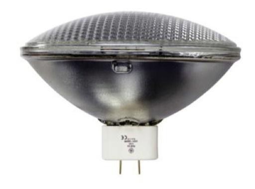 GE • PAR64 WFL 1000W 240V GX16D 3200K 300H 70x70
