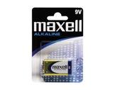 MAXELL • 1 Pile alcaline blister 9V D26,2X17,5 H48,5
