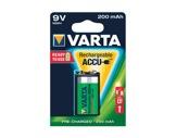 VARTA • Pile rechargeable 6F22 Accu R2U 9V 200 mAh blister x 1