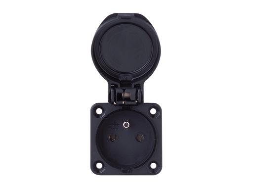 PCE • Embase femelle noir 16A 250V 2P +T IP54