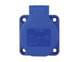 PCE • Embase femelle bleu 16A 250V 2P +T IP54-10-16-a