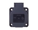 PCE • Embase femelle noir SHUKO 16A 250V 2P+T IP54-cablage