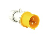 PCE • Fiche mâle jaune CEE17 110V 16A 2P+T IP44-cablage