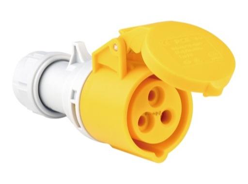 PCE • Fiche femelle jaune CEE 17 110V 16A 2P+T IP44