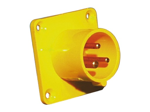 PCE • Embase mâle jaune CEE17 16A 110V 2P+T IP44