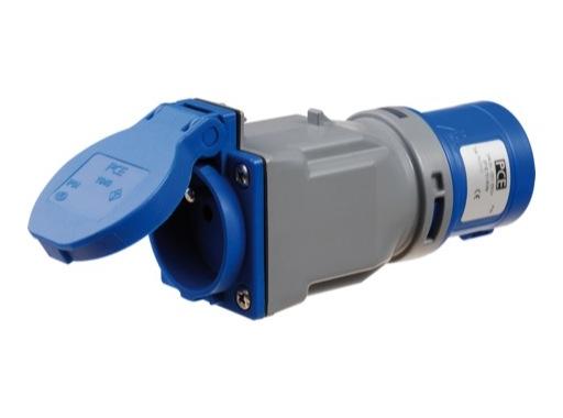 Adaptateur • CEE17 mâle/ PC femelle 16A section 2,5mm2