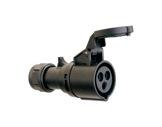 PCE • Prolongateur femelle Noire P17 16A 220V 2P+T IP 44-cablage