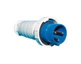 PCE • Fiche mâle 033-6 P17 240V 63A 2P+T BLEU IP67-cablage