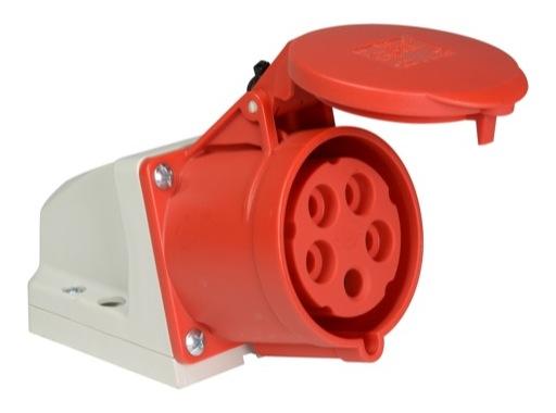 PCE • Socle femelle incliné avec boitier P17 32A 400V 3P+N+T IP44