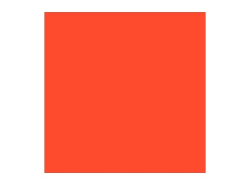 Filtre gélatine ROSCO SUNSET RED - feuille 0,53 x 1,22