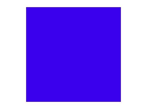 Filtre gélatine ROSCO JUST BLUE - feuille 0,53 x 1,22