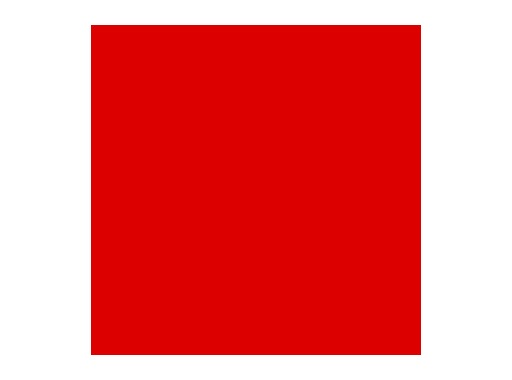 Filtre gélatine ROSCO PRIMARY RED - rouleau 7,62m x 1,22m