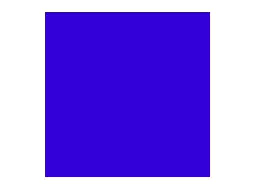 Filtre gélatine ROSCO DARK BLUE - feuille 0,53 x 1,22