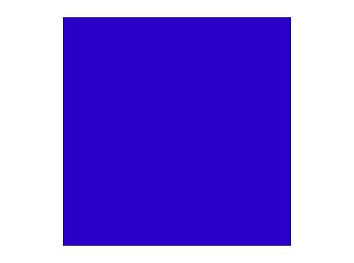 Filtre gélatine ROSCO DEEP BLUE - feuille 0,53 x 1,22