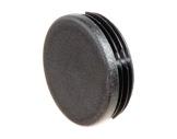 EMBOUT • Plastique noir finition pour barre ronde Ø 50 mm d'épaisseur 2 et 3 mm
