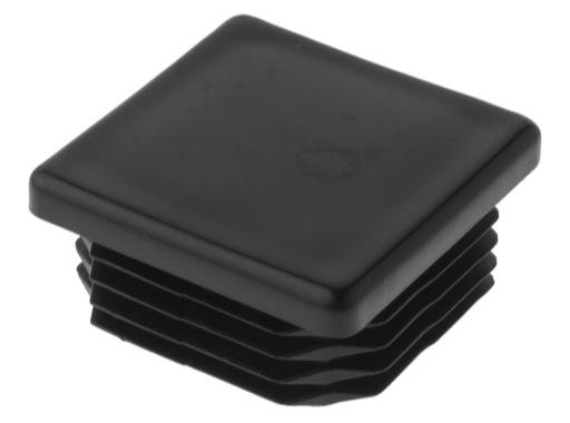 Embout plastique noir finition pour barre carrée 40/40