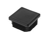 EMBOUT • Plastique noir finition pour barre carré 40/40