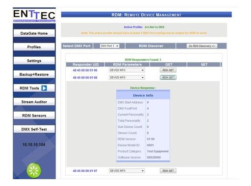 ENTTEC • DATAGATE MK2 RDM Tools License