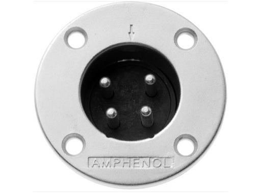 AMPHENOL • Embase mâle 4 points série EP 20A - 660V