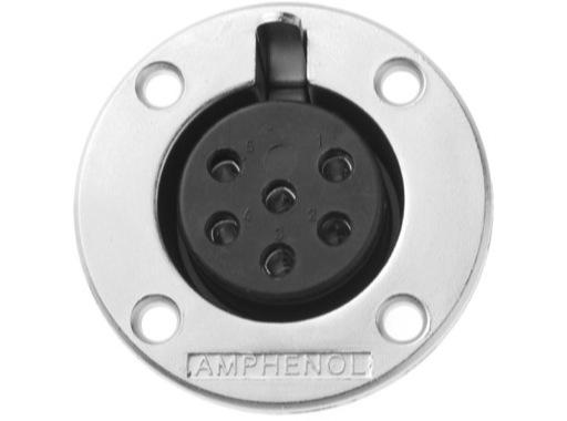 AMPHENOL • Embase femelle 6 points série EP 20A - 200V