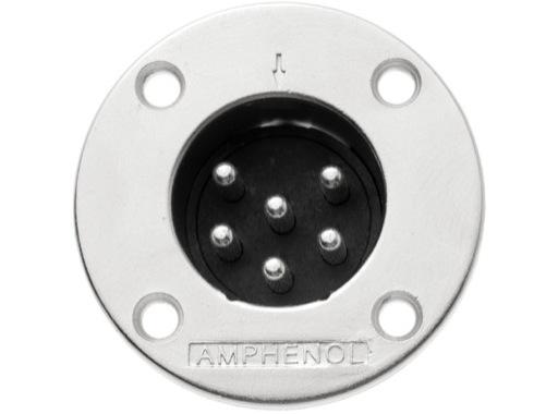 AMPHENOL • Embase mâle 6 points série EP 20A - 200V