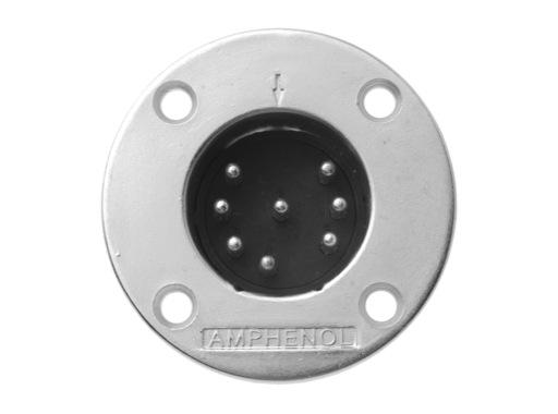 AMPHENOL • Embase mâle 8 points série EP 15A - 100V