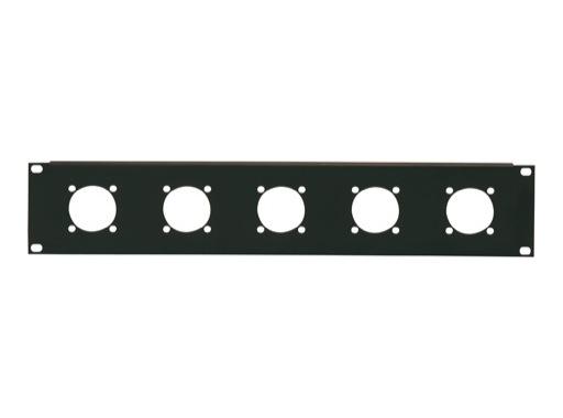 "Plaque 19"" • 2U 5 embases pour Powerlocks 400/600A"
